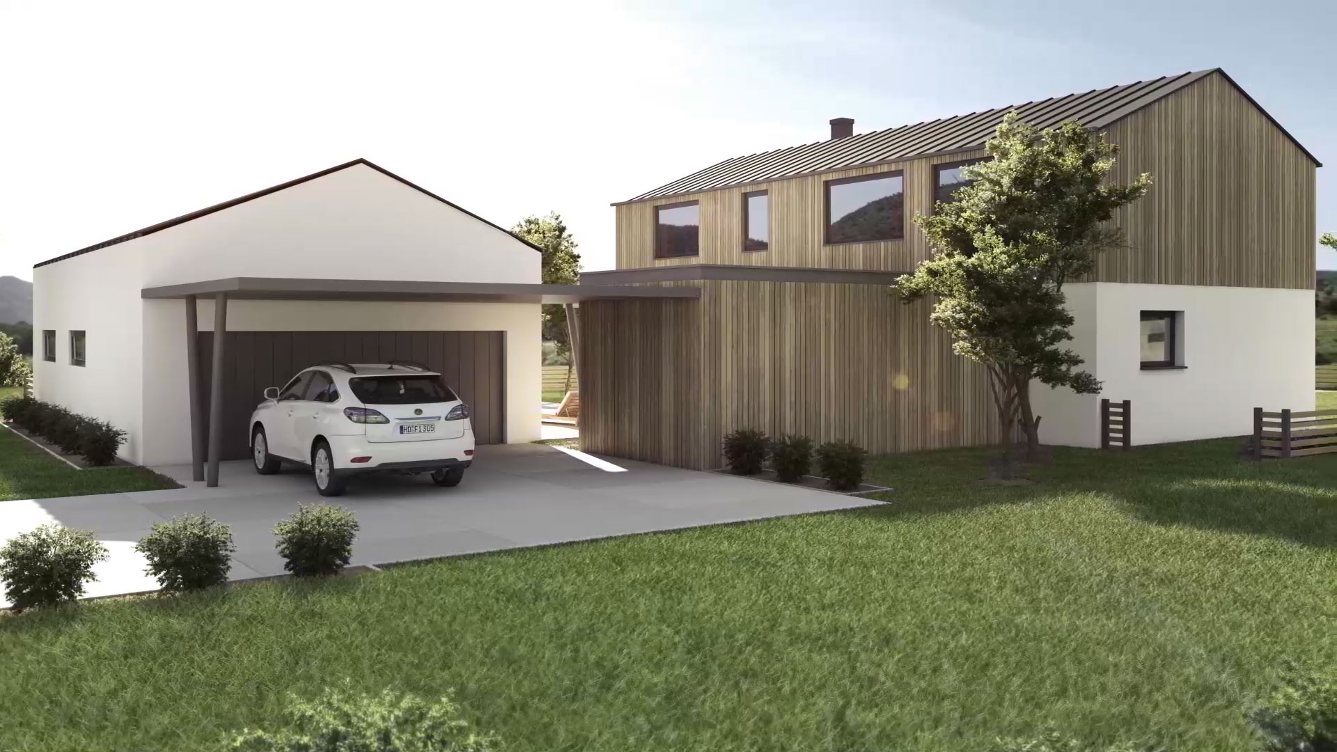 3d Animation Architektur Haus Immobilie
