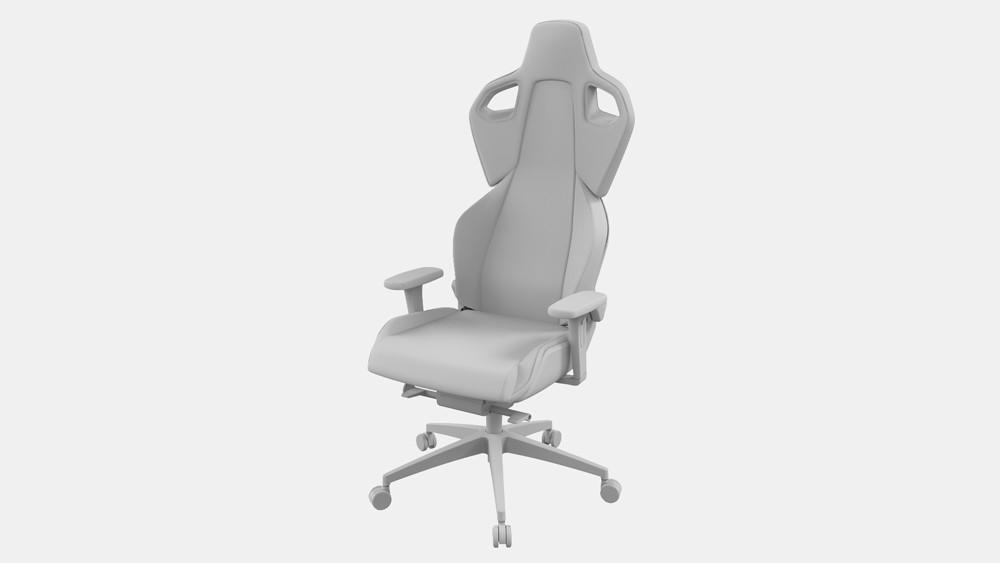 3d cgi rendering cad file chair fbx obj step catia