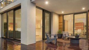 3d Visualisierung Architektur Terasse Tür Fenster