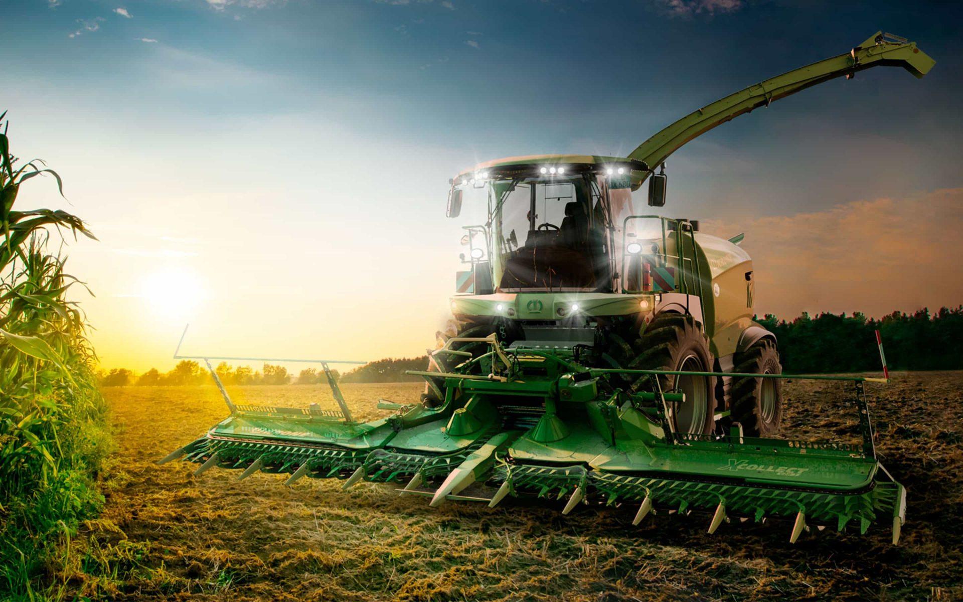Fotorealistisches Rendering Fahrzeug Landmaschine