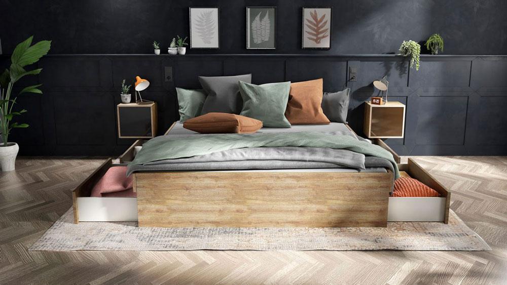 interior Design München Bett deinschrank
