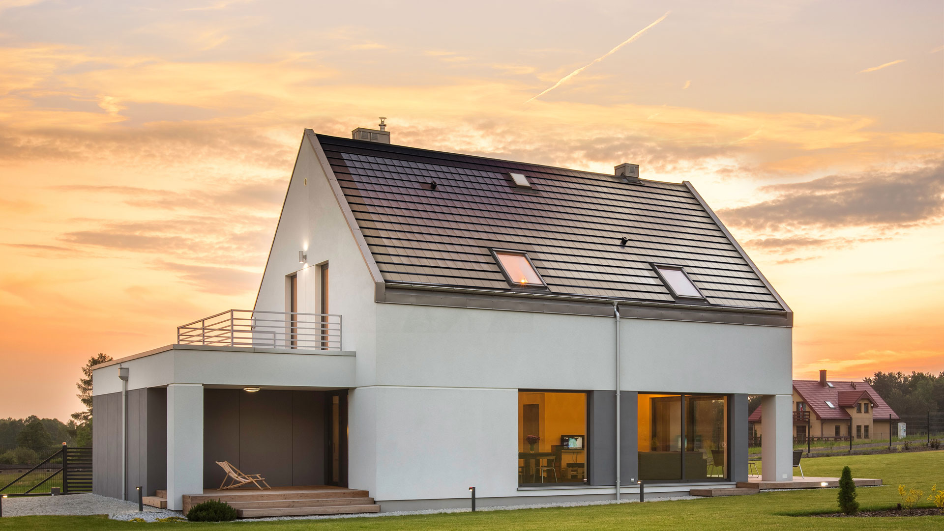 Architekturrendering Tesla Solar Roof