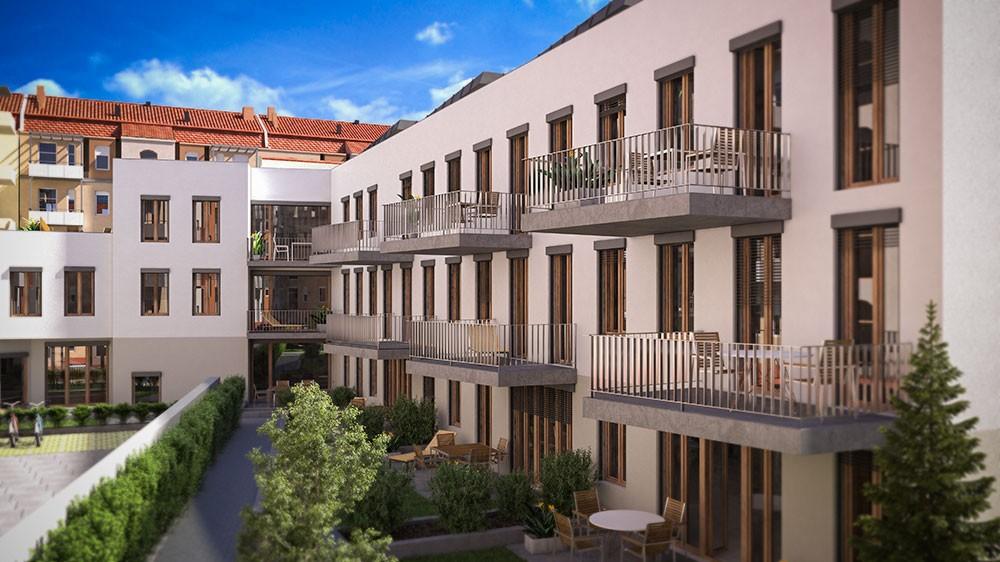 Architektur Rendering Wohnungsbau Wohnung