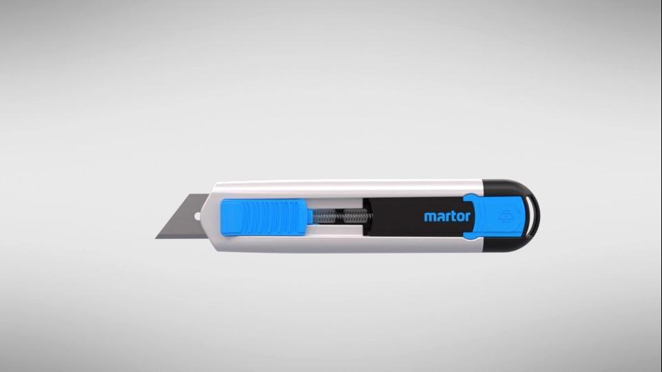 rendering produkt design messer martor sicherheitsmesser cutter