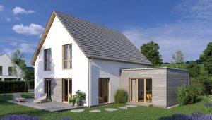 architektur render Haus freistehend Einfamilienhaus